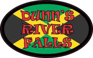 Oval Jamaican Flag Dunn's River Falls Sticker