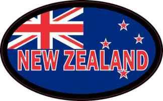 Flag Oval New Zealand Sticker