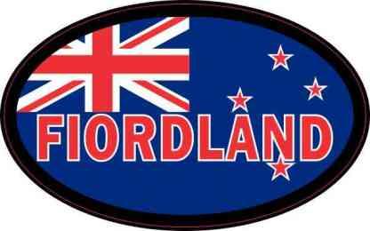Oval New Zealand Fiordland Sticker