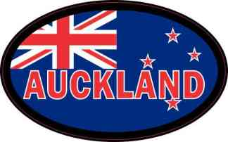Oval New Zealand Flag Auckland Sticker