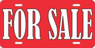 For Sale Aluminum Sign