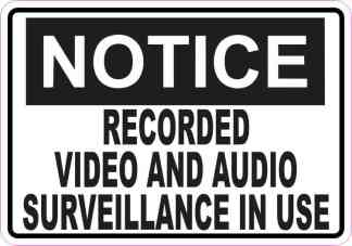 Notice Video and Audio Surveillance Sticker