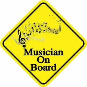 Musician On Board Sticker