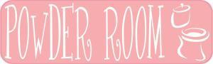Pink Powder Room Sticker