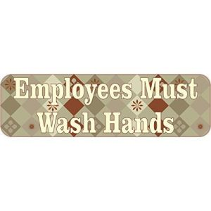 Brown Diamonds Employees Must Wash Hands Magnet