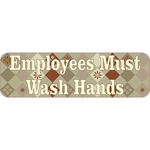 Brown Diamonds Employees Must Wash Hands Magnet