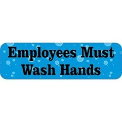 Bubbles Employees Must Wash Hands Magnet