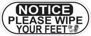 Wipe your feet sticker