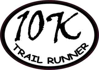 Oval Trail Runner 10K Sticker