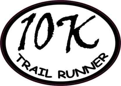 Oval Trail Runner 10K Sticker