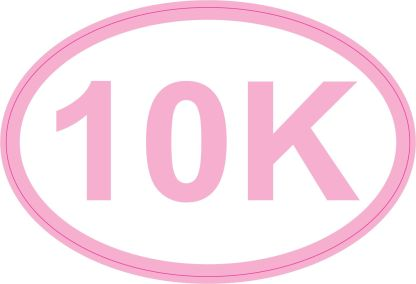 Pink Oval 10K Sticker