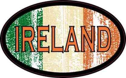 Flag Oval Ireland Sticker