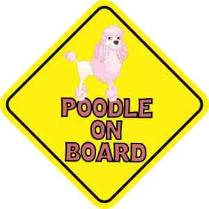 Pink Poodle on Board Sticker