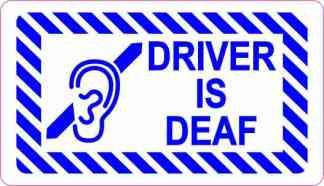 Driver Is Deaf Sticker