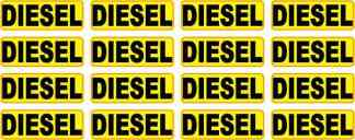 Yellow Diesel Stickers