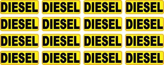 Yellow Diesel Stickers