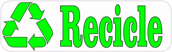 Recicle Spanish Recycle Sticker