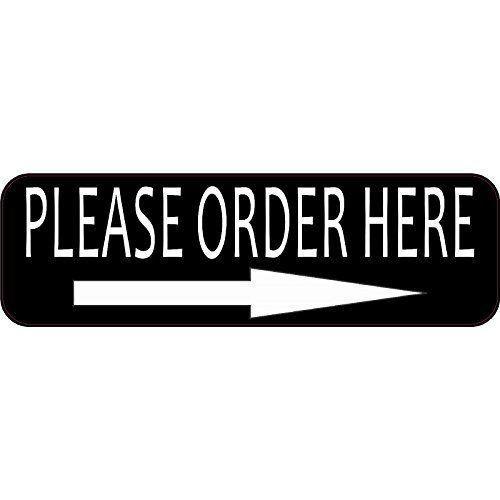 Right Arrow Please Order Here Sticker