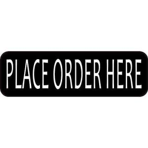 Place Order Here Sticker
