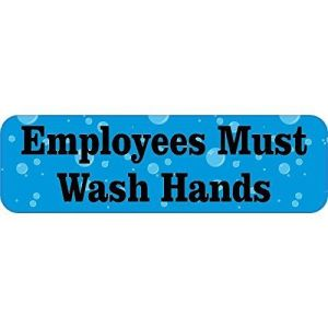 Bubbles Employees Must Wash Hands Sticker