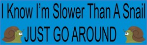 I Know I'm Slower Than A Snail Magnet