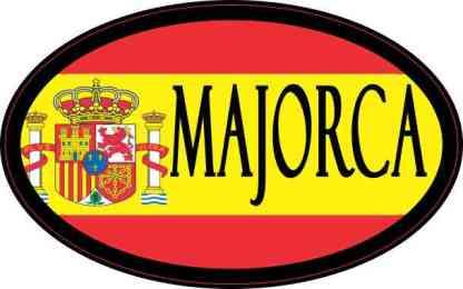 Oval Spanish Flag Majorca Sticker