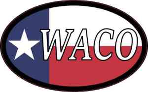 Oval Texan Flag Waco Sticker