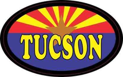 Oval Arizonan Flag Tucson Sticker