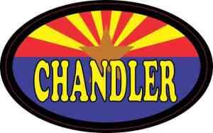 Oval Arizonan Flag Chandler Sticker