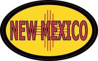 Flag Oval New Mexico Sticker