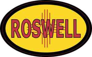 Oval New Mexico Flag Roswell Sticker