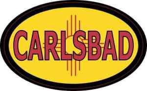 Oval New Mexico Flag Carlsbad Sticker