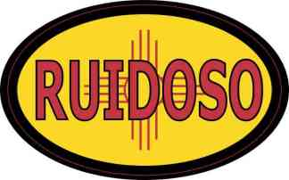 Oval New Mexico Flag Ruidoso Sticker