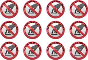 Not in Play Stickers