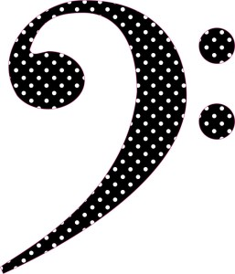 Polka Dot Bass Clef Sticker