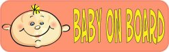 Coral Baby On Board Bumper Magnet