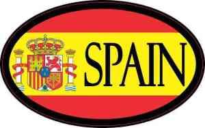 Flag Oval Spain Sticker