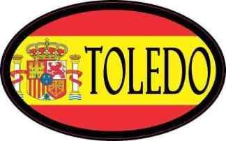 Oval Spanish Flag Toledo Sticker