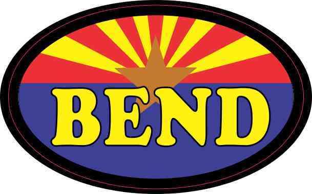 Oval Arizonan Flag Bend Sticker