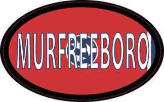 Oval Tennessee Flag Murfreeboro Sticker