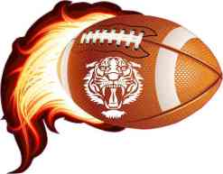 Tiger Flame Football Sticker