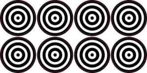 Bulls-eye Target Stickers