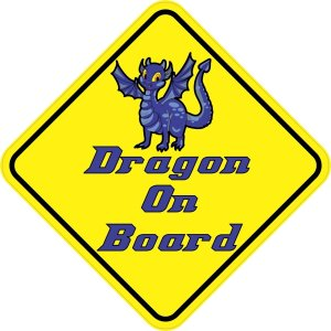 Blue Dragon On Board Magnet