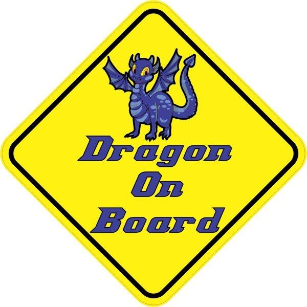 Blue Dragon On Board Magnet