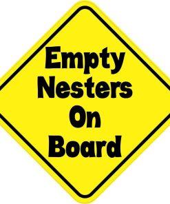 Empty Nesters On Board Sticker