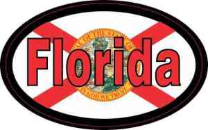 Flag Oval Florida Sticker