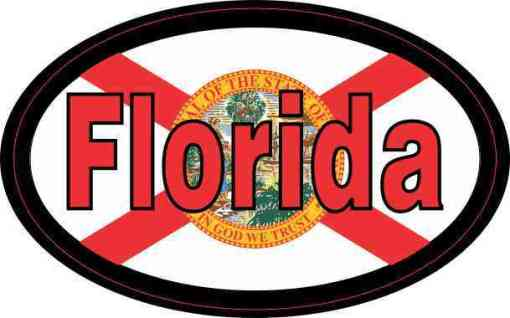 Flag Oval Florida Sticker