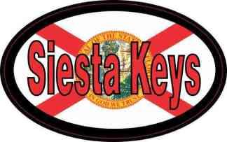 Oval Florida Flag Siesta Keys Sticker