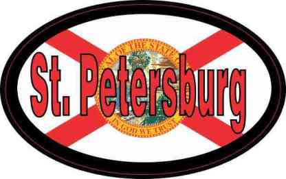 Oval Florida Flag St. Petersburg Sticker