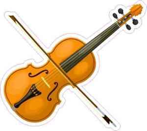 Die Cut Violin Sticker
